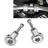 "Chrome 7/8"" 22mm Universal Handlebar Risers Motorcycle Chopper Bobber Touring"