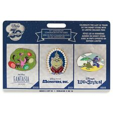 DISNEY STORE 30th ANNIVERSARY LTD PIN SET WEEK 5 STITCH FANTASIA MONSTERS INC