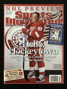 Marian Hossa Signed Sports Illustrated 10/13/08 No Label Red Wings Auto HOF JSA