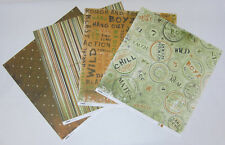 "8 Kaisercraft Double Sided Rough & Tough Scrapbooking Paper 12""x12"" Card Making"