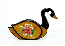 """11"""" TallX17"""" Long Hand Painted Vintage Home Decorative Wooden Duck. Excellent"""