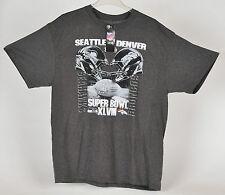 NFL Team Apparel Super Bowl XLVIII  Seahawks Broncos Mens T Shirt XL New w Tag