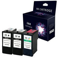 3 x Ink Cartridges Replace For Lexmark No.32 & 33 P915 P4330 P4350 P6250 X5470