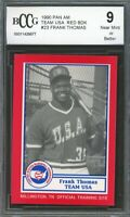 1990 Pan Am Team USA Red BDK #23 Frank Thomas Rookie Card BGS BCCG 9 Near Mint+
