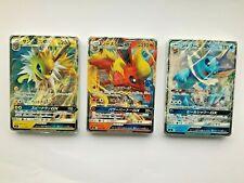 Japanese Pokemon Cards SM1 Starter Deck Eeveelutions Jolteon Flareon, Glaceon GX