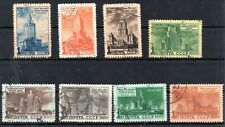 OLD STAMPS OF SOVIET UNIO 1950 # 1527-1534 USED 300.-EURO Architecture