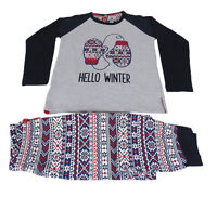 PIGIAMA invernale per bambino e ragazzo Admas in Caldo Cotone Hello Winter