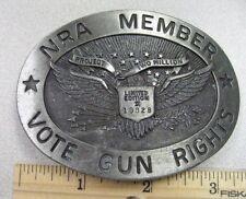 Vintage NRA Member Vote Gun Rights Project 2 Million Belt Buckle