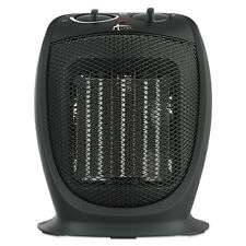 "Alera Ceramic Heater, 7 1/8""w x 5 7/8""d x 8 3/4""h, Black HECH09"