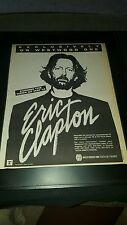 Eric Clapton Rare Original Westwood One Radio Promo Poster Ad Framed!