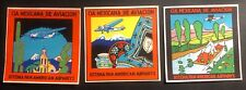 Mint 3 Air Baggage Label Mexicana Of Aviation Complete Set Pan American System