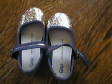GAP SPARKLY Dark Navy/Black Buckle Strapped Flats TODDLER SHOES Size 6~~UNWORN!!