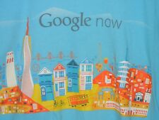 Google Now size S t-shirt San Francisco all over print blue