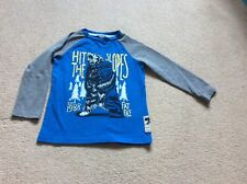 Long sleeve Fat Face top, age 4-5, cool graphic on front
