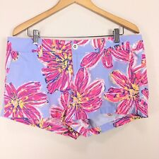 Lilly Pulitzer Walsh Shorts in Dahlia Party Girl Floral Purple Women's Sz 14