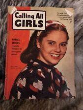 Calling All Girls Magazine September 1944 Vol 4 No 32