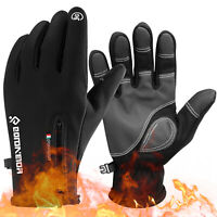 Winter Warm Fleece Gloves Thermal Windproof Touch Screen Ski Mittens Men Women