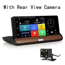 4G Wifi GPS Navigation Car Truck DVR Camera Android Bluetooth W/ Backup Cam 7.0""