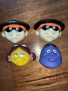 McDonalds 1993 collectible suction cup toys x 4