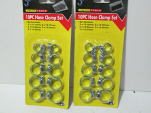 Set of two 10 Piece Hose clamp sets  ( 20 clamps )