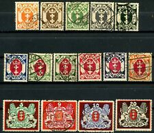 Danzig 1921 to 1922 Definitives MH Set 14 Scott's 63 to 67, 69 to 73 + 77 to 80