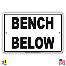 Bench Below Activity Pool Rules Markers Aluminum Metal 8x12 Sign