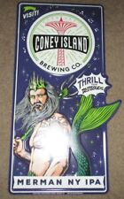 CONEY ISLAND BREWING COMPANY Merman IPA METAL TACKER SIGN craft beer brewery