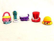 """Shopkins Lot 5 Bathtub Lace-Up Boot Corset Hat Pink Purse .75"""" Miniature Figures"""