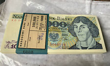 More details for rare full bank block poland 1000 zlotych' 1982 banknotes x 100 uncirculated