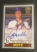 LEE MAZZILLI 2020 Topps Archives Fan Favorites  (On Card Auto) #'d 99 of 99