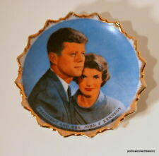 Vintage President and Mrs John F Kennedy Small Ceramic Plate
