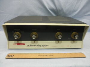 Excellent 1961 HEATHKIT AA-161 Mono Integrated Amplifier 6 Tube EL84–Serviced-NR