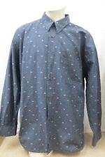 SIGNUM Herren Hemd Gr.XL Kragenweite 43/44 Schwarz Muster Langarm Baumwolle