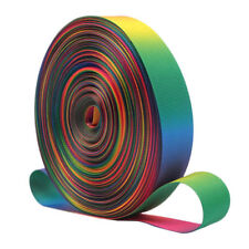 3 Yards Polyester Rainbow Striped Ribbon Trim Woven Grosgrain DIY Sewing Crafts