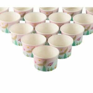 Ice Cream Sundae Cups - 50-Piece Disposable Paper Dessert Ice Cream Yogurt Bowls