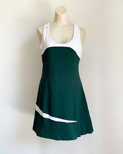 Duc Sports Women's White & Green Tennis Athletic Wear