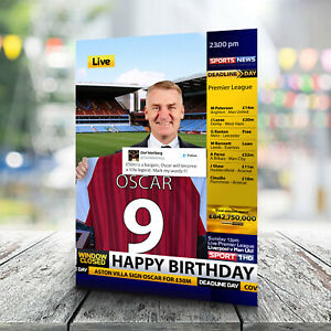 Aston Villa Birthday Card - Personalised With Any Name and Age