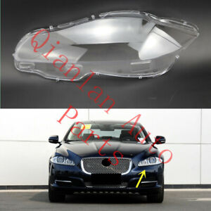 Left Side Clear Headlight Cover With Glue For Jaguar XJ 2010-2019