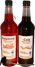 2 x 750 ml of snow cone , shaved ice syrup mix bottles  with 2 x 3ml pumps