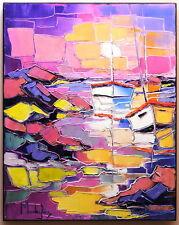 LES GRANITS ROSES 40X50 tableau peinture huile oil painting PFLEGER MANDRAFINA