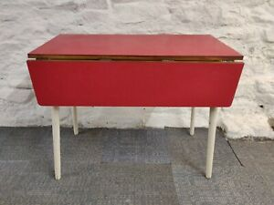 Vintage Retro Red Formica Kitchen  Table 50s/60s