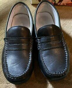 Boys Primigi Brad 1-E Leather Loafers Dress Shoes Black Size US 1.5 EU 33