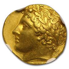Sicily Syracuse Gold Decadrachm Agathocles (317-289 BC) AU NGC