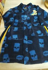 Boy's Bart Simpson Robe de chambre en polaire Taille 6-7 ans Marks and Spencer