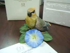 """Lenox Garden Birds Collection """"Cedar Waxwing"""" Coa Mib box"""
