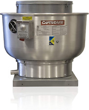 Restaurant Canopy Hood Grease Rated Exhaust Fan Belt Drive Centrifugal Upblast