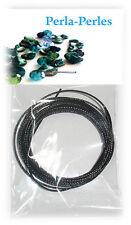 2.50 de fil câblé pour création de collier saisonnier  épaisseur 1 mm - Noir