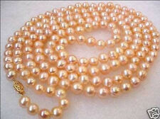 "50"" Charming 8-9mm Akoya culture pink pearl necklace"