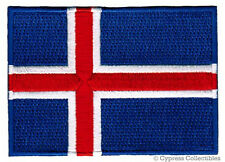 ICELAND FLAG embroidered iron-on PATCH ICELANDIC EMBLEM ICELANDER REPUBLIC new