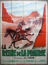 LA REINE DE LA PRAIRIE Cattle Queen of Montana Affiche Cinéma / Movie Poster